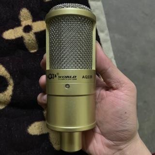 Mic thu âm livestream AQTA AQ220-kèm dây và sốc mao bảo hành 6 tháng