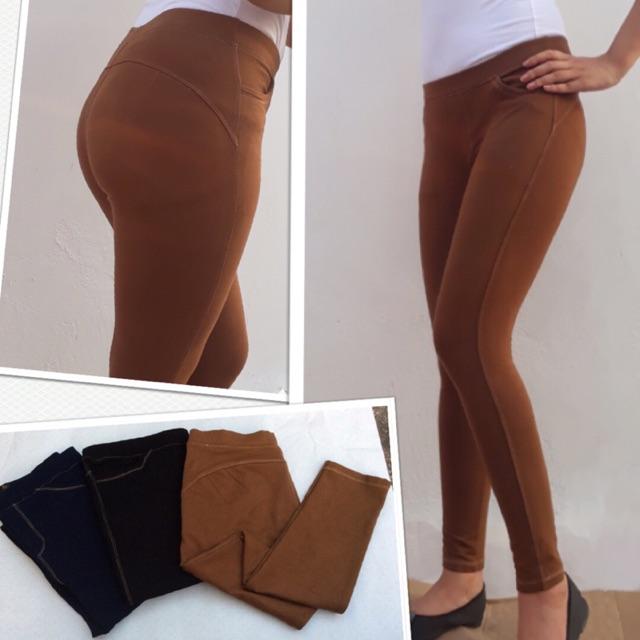 Quần legging nâng mông giả jean