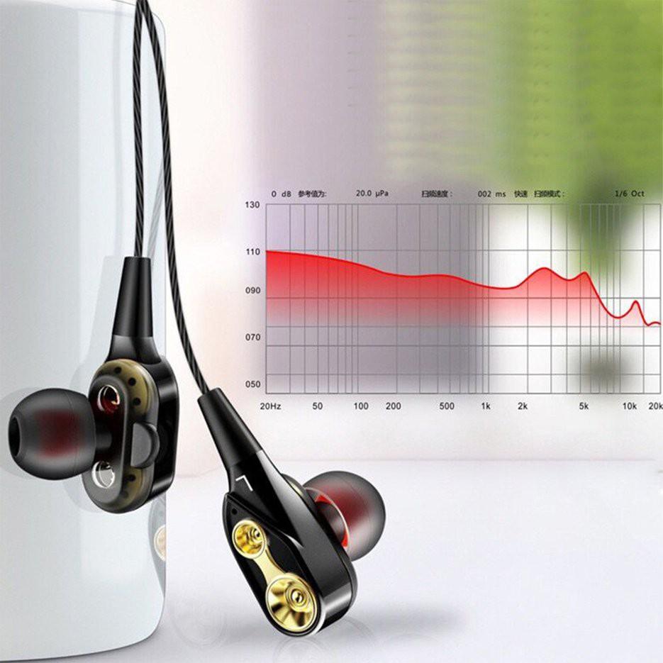 Tai nghe nhét trong 4D âm siêu trầm có dây giắc cắm 3.5mm