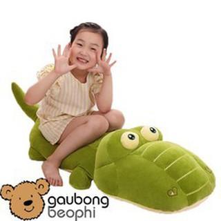 Cá sấu bông màu xanh hàng cao cấp mềm mịn Size 80CM