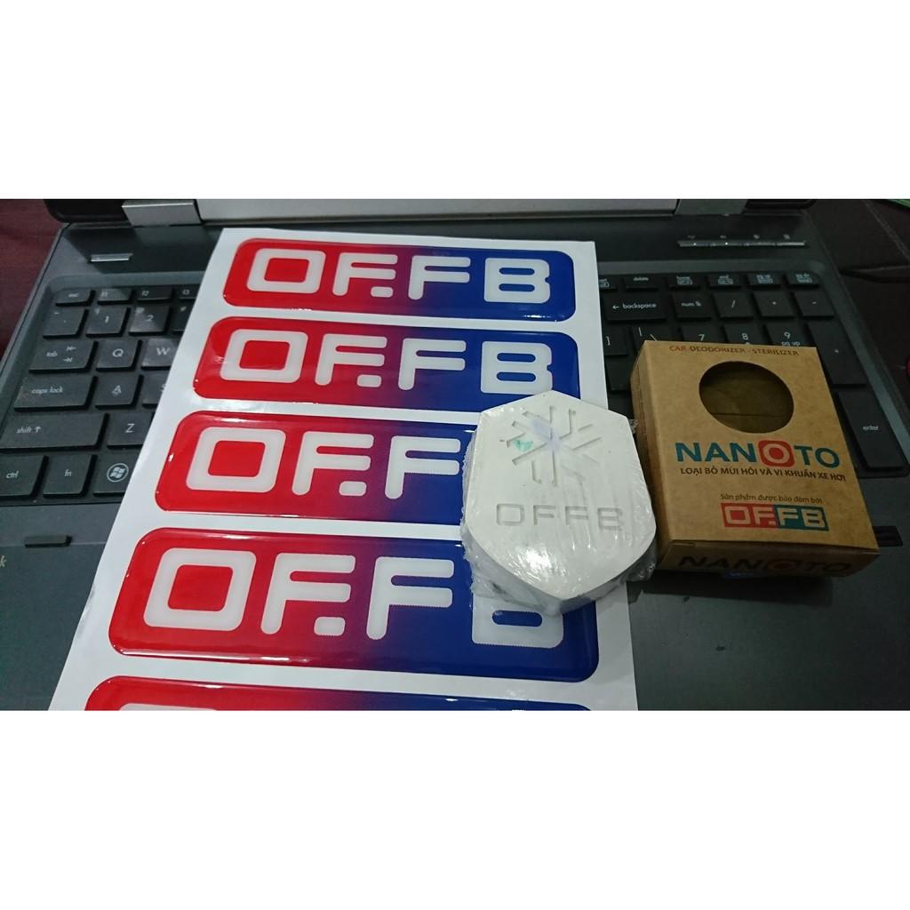 |Chính hãng| Logo dán xe otofun OFFB, Tem Dán OFFB nhựa dẻo Phản Quang từ admin
