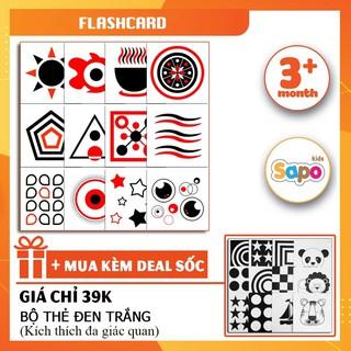 [Flashcard] Bộ Thẻ Kích Thích Thích Thị Giác Cho Bé Màu Đỏ Đen Chất Liệu Giấy Cứng, Kích Thước 17x17cm thumbnail