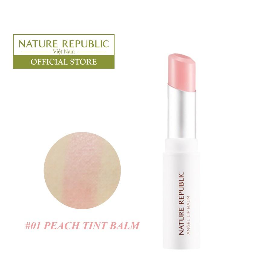 Son môi dưỡng màu NATURE REPUBLIC Moist Angel Lip Balm 3.3g