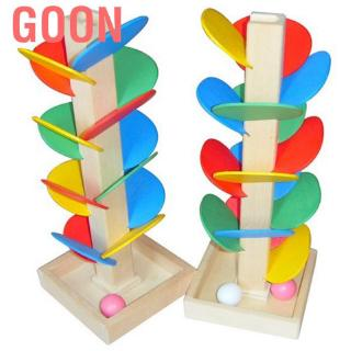 Goon Baby Kids Educational Wooden Tree Puzzle Ball Run Track Game Children Toys Gifts