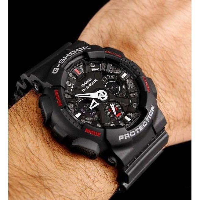 Đồng hồ nam dây nhựa G-SHOCK chính hãng Casio Anh Khuê GA-120-1ADR