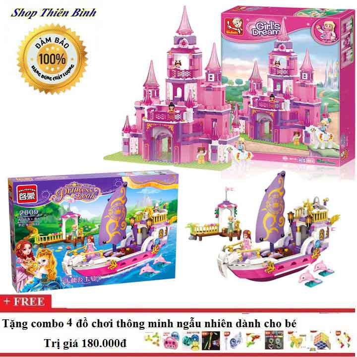Bộ lego xếp hình combo Sloban 0152+ Enlighten 2609 cho bé gái - 3385802 , 888812248 , 322_888812248 , 1305000 , Bo-lego-xep-hinh-combo-Sloban-0152-Enlighten-2609-cho-be-gai-322_888812248 , shopee.vn , Bộ lego xếp hình combo Sloban 0152+ Enlighten 2609 cho bé gái