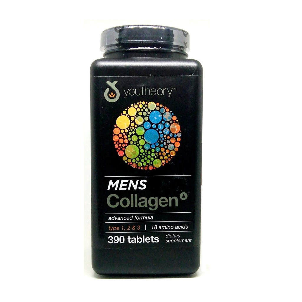 Collagen nam - Youtheory Mens Collagen type 1 2 & 3 hộp 390 viên
