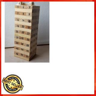 [HÀNG MỚI] Bộ đồ chơi rút gỗ thông minh 54 thanh loại to cho bé [ CÓ SẴN]