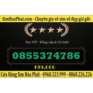 Bán Sim Số Đẹp Vinaphone 0855374786 Giá 199.000