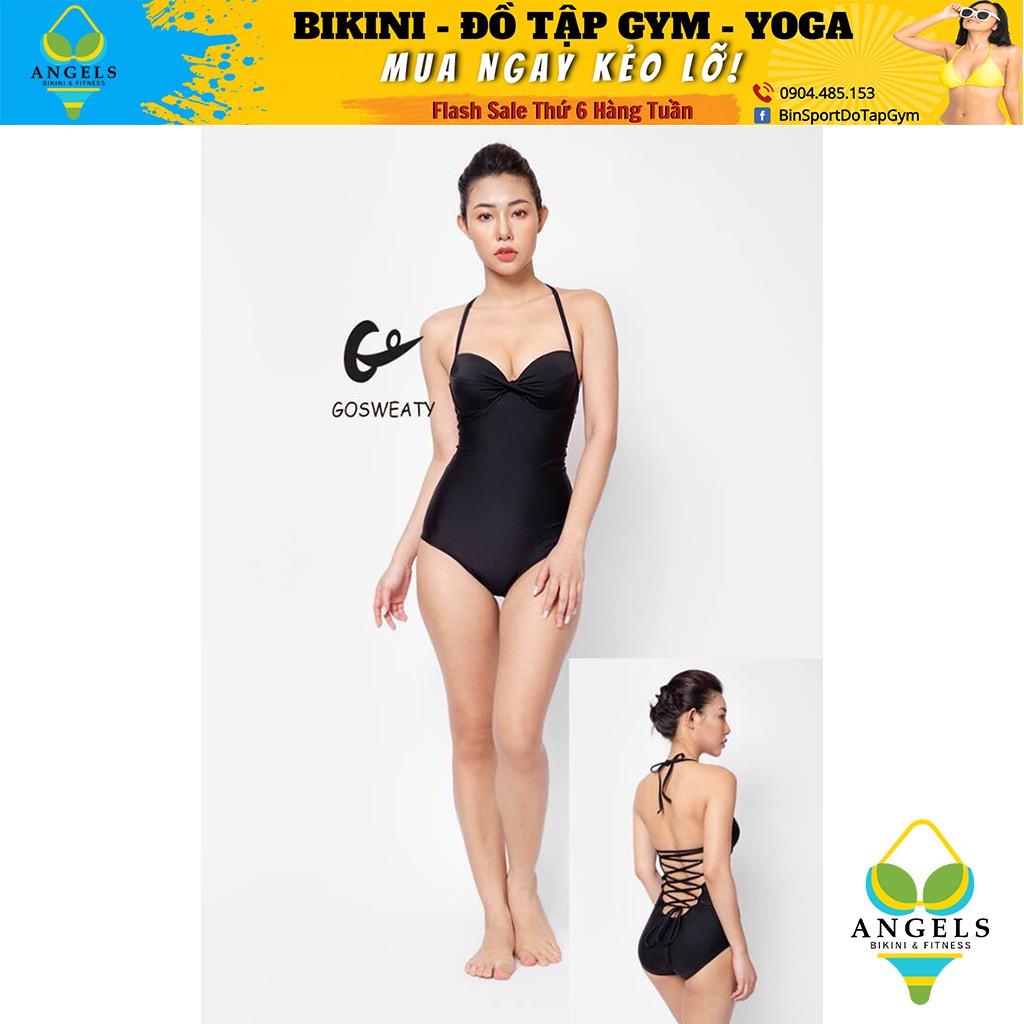 Bikini,Bộ Đồ Bơi Một Mảnh Body Đen BHV034