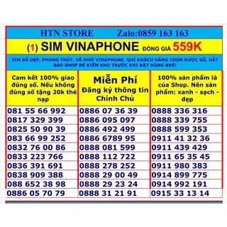 Sim vinaphone số đẹp vina trả trước giá rẻ đồng giá 559k (1)