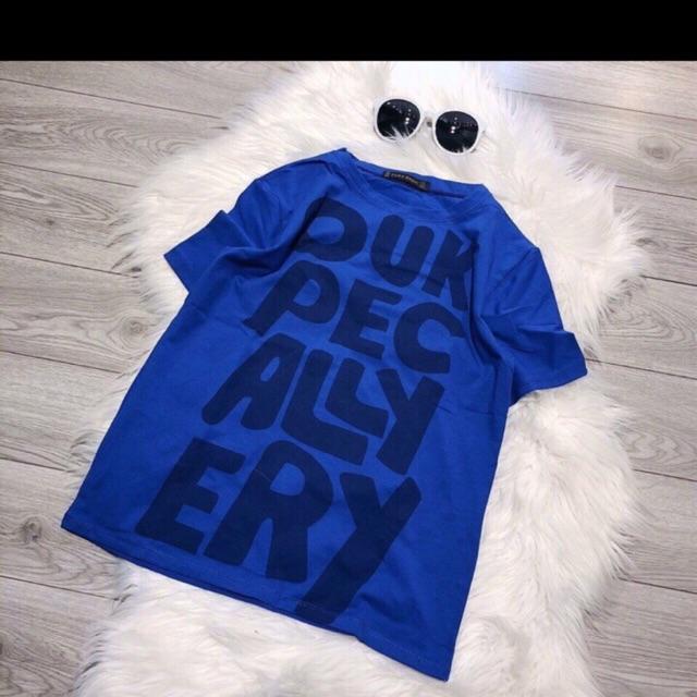 Áo phông chữ xanh