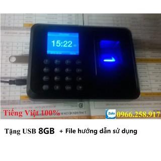 Máy Chấm Công Quét Vân Tay 911(Tặng USB 8GB + Video hướng dẫn sử dụng) (100% Tiếng Việt)
