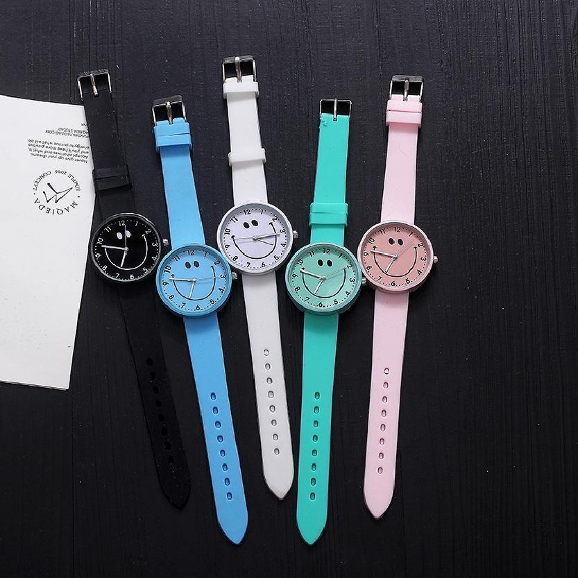 นาฬิกาเยลลี่ยิ้มน่ารักเกาหลีนาฬิกาควอทซ์ซิลิโคน 527