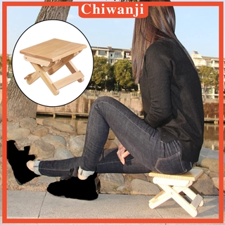 [CHIWANJI]Foldable Small Wood Stool Heavy Duty Fishing Chair Seat for Kids Adults