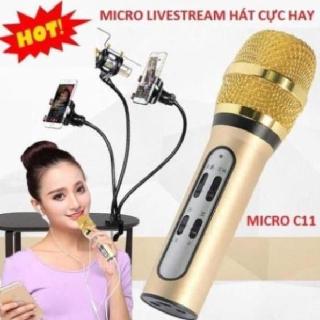 [𝘽𝙖̉𝙣 𝙉𝙖̂𝙣𝙜 𝘾𝙖̂́𝙥 𝟮𝟬𝟮𝟬] Mic Thu âm C11 livestream cao cấp tặng kèm tai phone