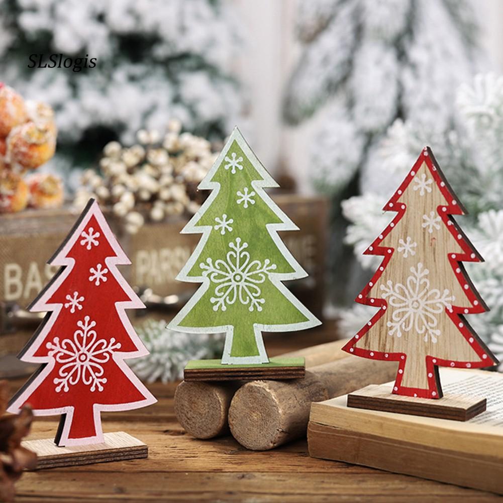 Cây thông Noel bằng gỗ trang trí giáng sinh