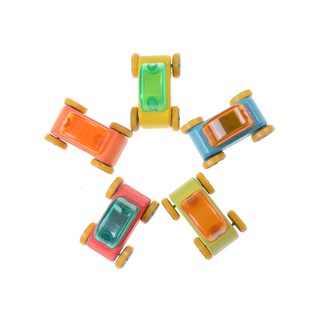 1:64 Candy Color Wooden Car Toy Mini Model Car Wooden Children Toy