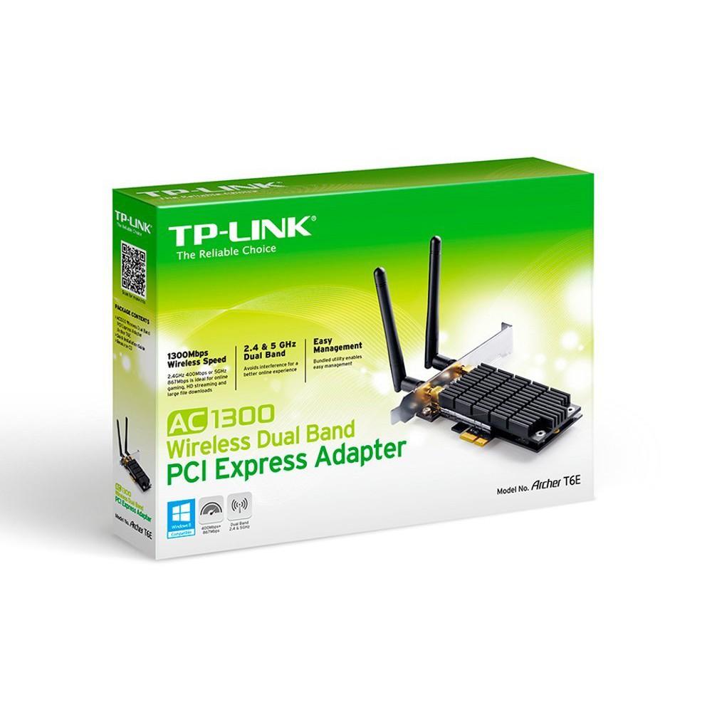 Bộ chuyển đổi PCI Express băng tần kép không dây AC1300 Archer T6E