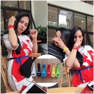 𝐇𝐨𝐭𝐭𝐫𝐞𝐧𝐝 PK027 Đồng Hồ Điện Tử Thể Thao Dây Nhựa Nam Nữ Nhiều Màu