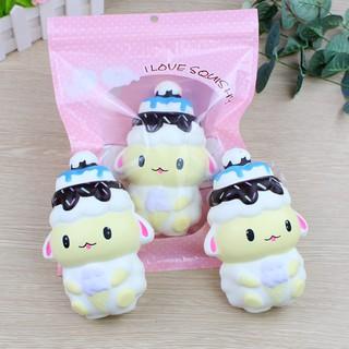 Squishy Cừu mũ kem (14x10cm) / Hello Baby shop oanh