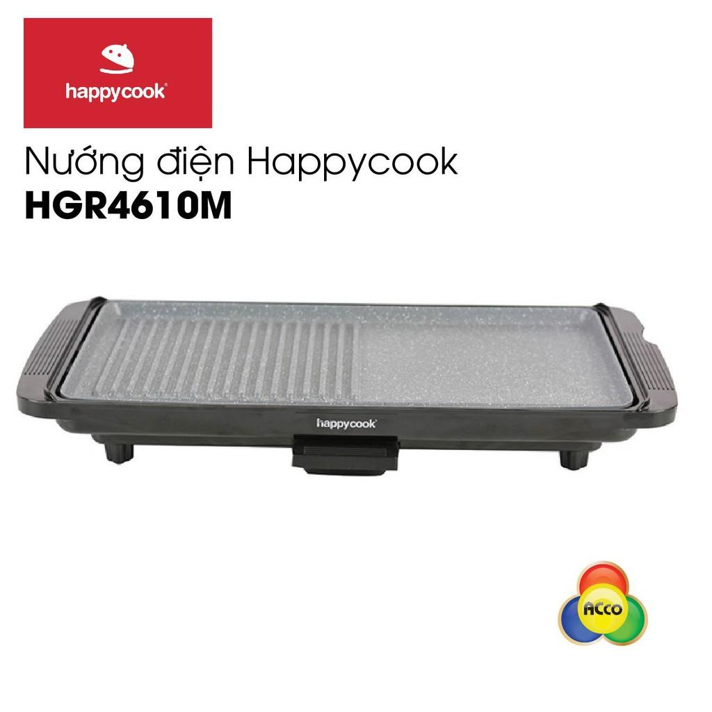 Vỉ Nướng Điện Vân Đá Chống Dính Happy Cook HGR-4610M
