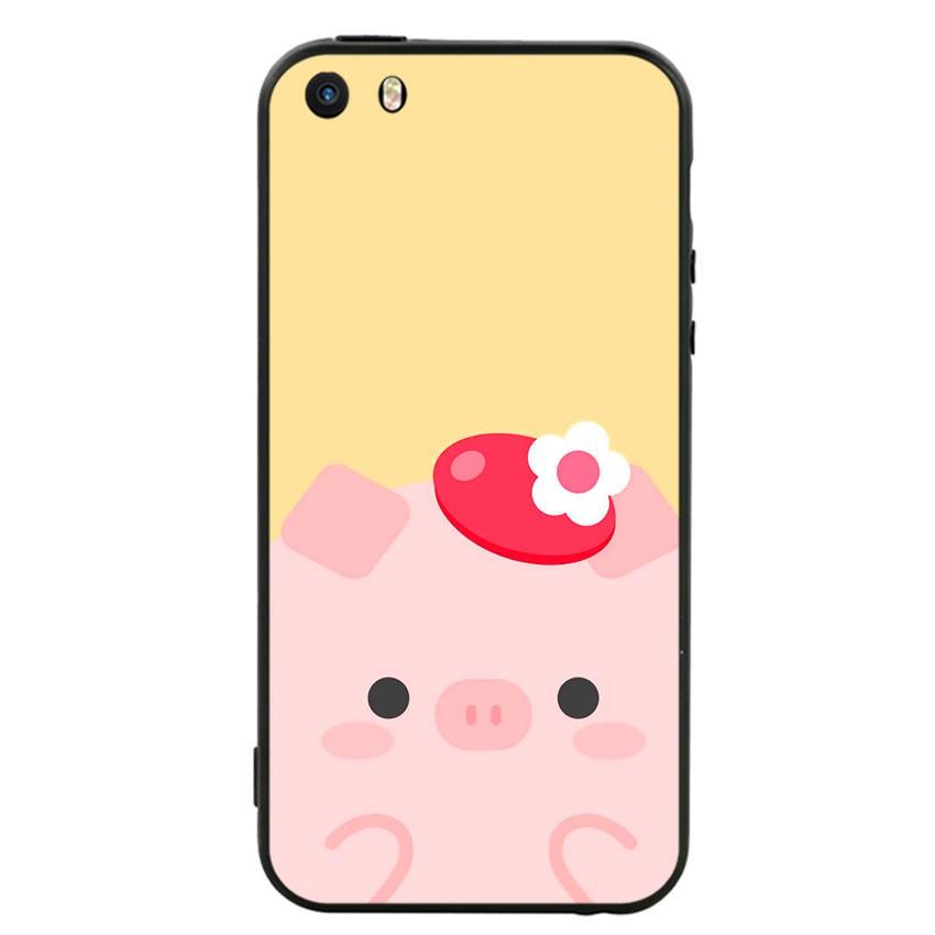 Ốp lưng viền TPU cho điện thoại Iphone 5 - Pig 05 (chất lượng)