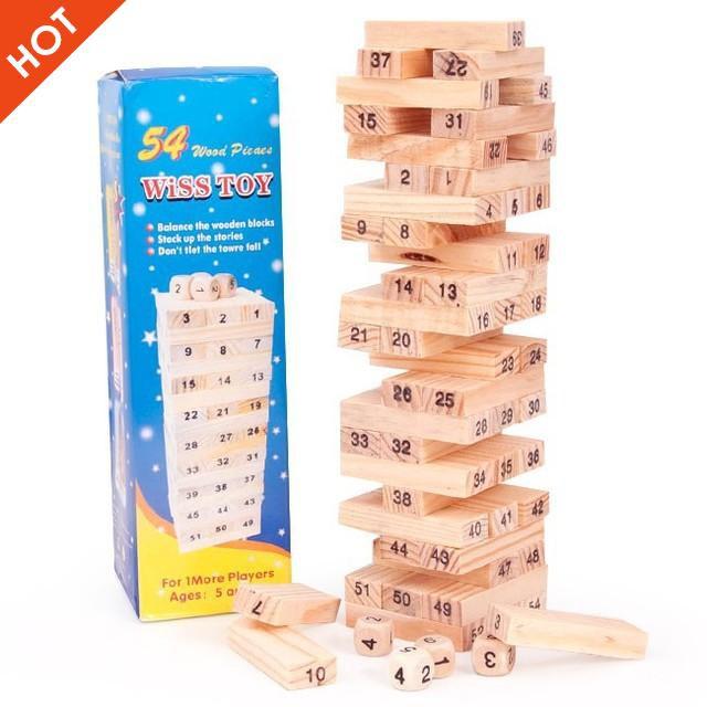 [ẢNH TỰ CHỤP] – [Nhập TOYAPR10K giảm ngay 10K]Đồ chơi rút gỗ 54 thanh cho bé
