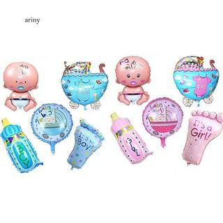 ♞5Pcs Baby Kids Shower Foil Balloons Helium Balls Party Decorations Supplies