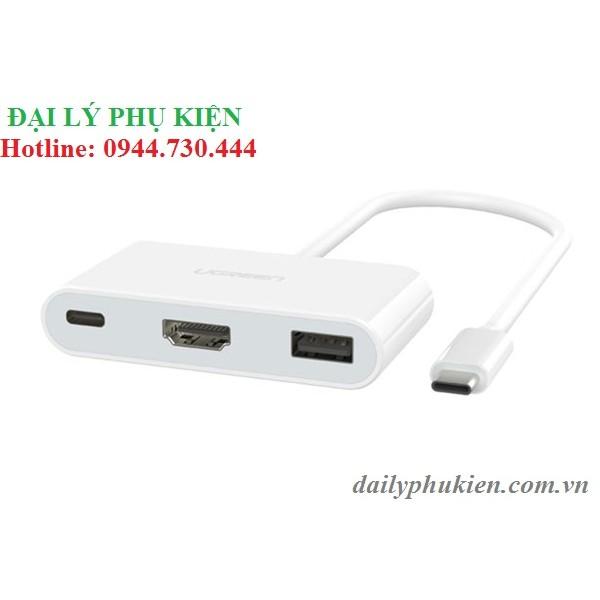 Cáp USB C to HDMI tích hợp USB 3.0 + USB-C UGREEN 30277