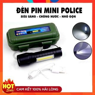 Yêu ThíchĐèn Pin Mini Siêu Sáng Police Cao Cấp Có Zoom ❤️RẺ VÔ ĐỊCH❤️ Đèn Pin Mini Led Siêu Sáng Chống Nước Giá Rẻ