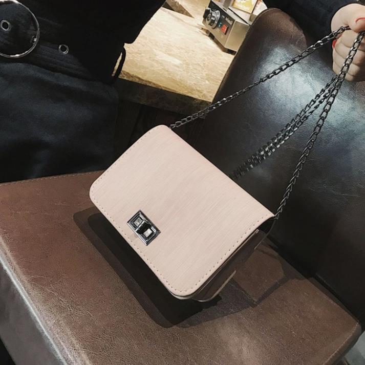 Túi xách nữ dây xích cao cấp da mềm giá rẻ, Túi nữ nhỏ mini đeo chéo hàng hiệu TXN40-C loại 1