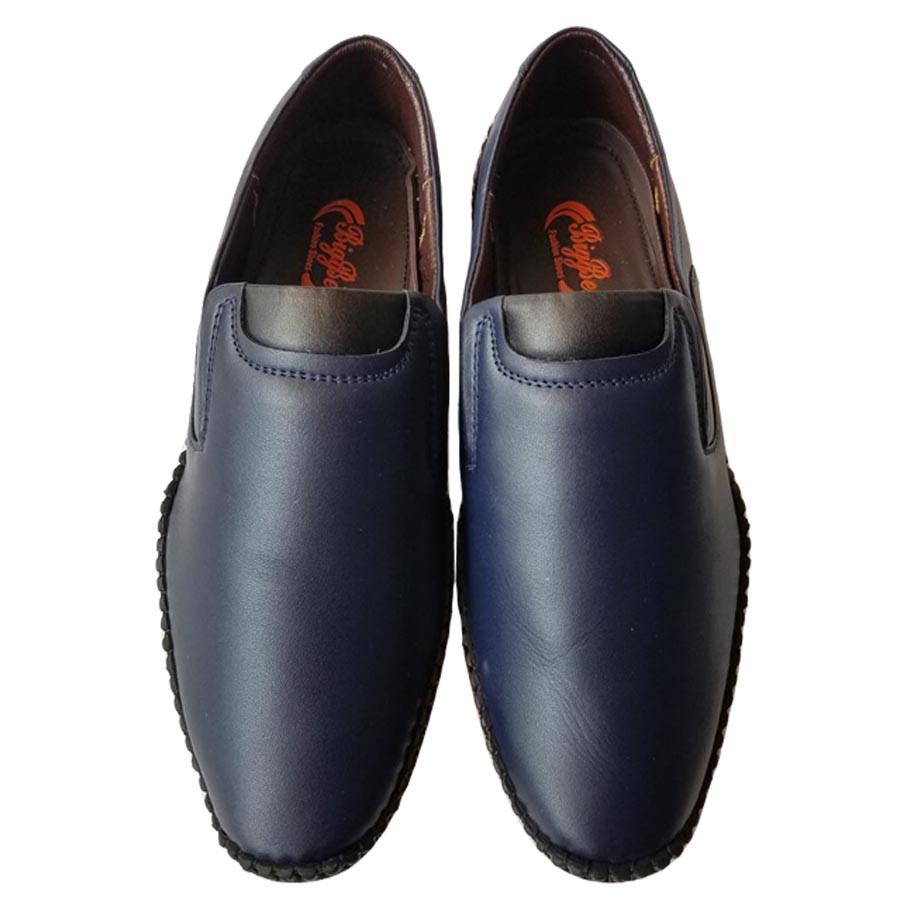 Giày Mọi Nam BIGBEN May Viền Da Bò Thật Cao Cấp GM5