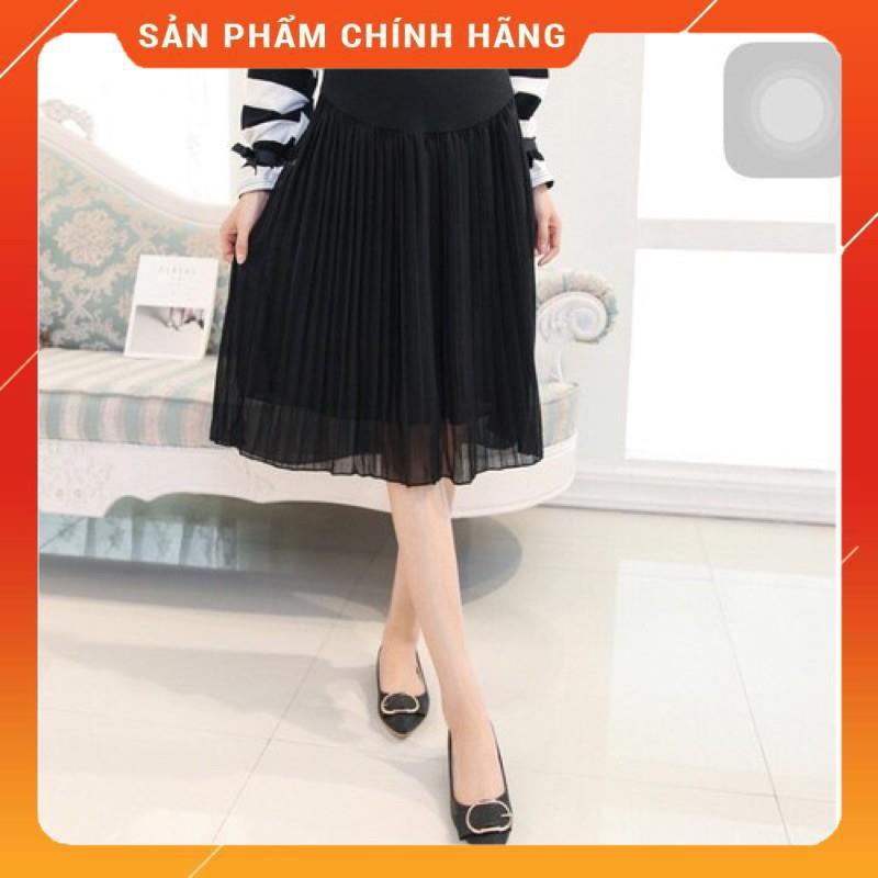 [Hàng cao cấp]Chân váy bầu công sở thiết kế siêu sang☘️váy bầu dập ly chất von cực đẹp, mát, mềm, mịn☘️free size 50