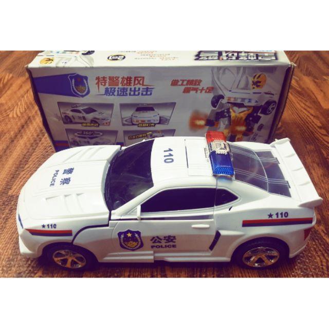 Xe cảnh sát biến hình robot (0906-37)