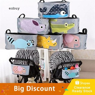 ☛Ready stock☚Cute Cartoon Baby Stroller Hanging Bag Cup Holder Toys Phone Storage Organizer