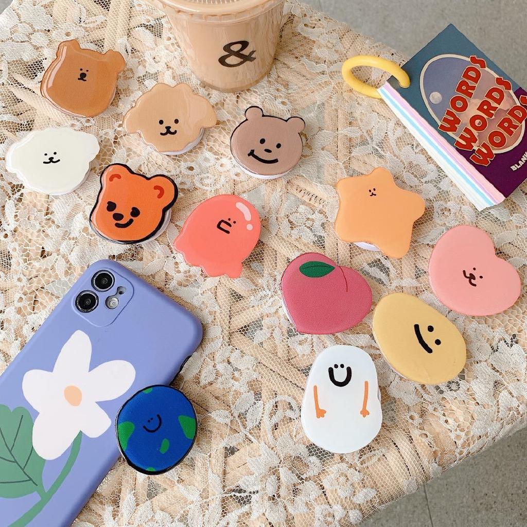 Đế đỡ điện thoại thiết kế họa tiết hoạt hình Hàn Quốc đáng yêu