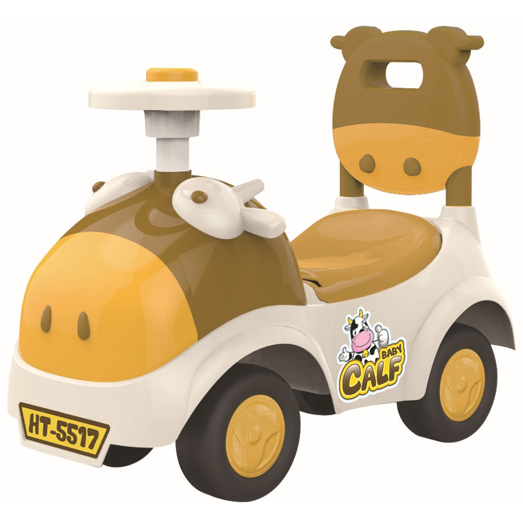 Xe ô tô chòi chân cho bé hình đầu bò Heng Tai HT-5517