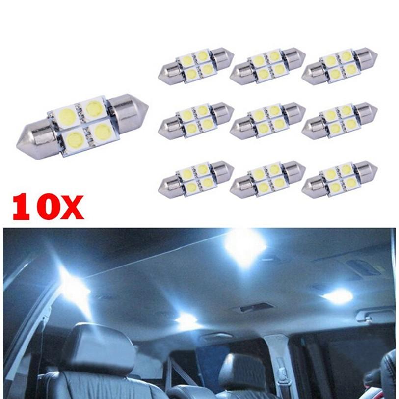 ❤ADA❤ Set 10 đèn led 4SMD 5050 31MM chuyên dụng cho xe hơi TO