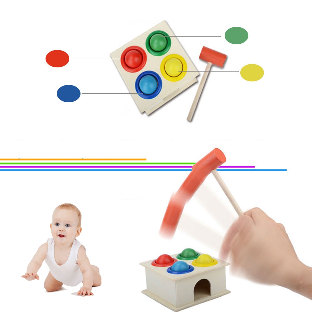 L1 Mini Table Interesting Kids Play Colorful Block Family Interactive Hammering Game Toy