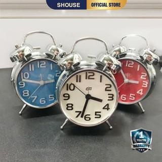 Đồng Hồ Báo Thức INOX để bàn trang trí mini thông minh có quả chuông to hẹn giờ cho bé phòng ngủ