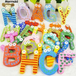 26 Alphabet Magnetic Letters Wooden English Fridge Magnets Education Toys