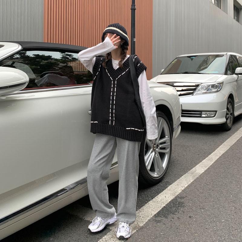Set áo gile len nữ năng động A024