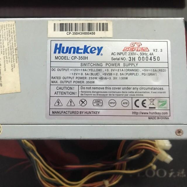 EDM Nguồn Huntkey Công suất thực  350w Fan 12