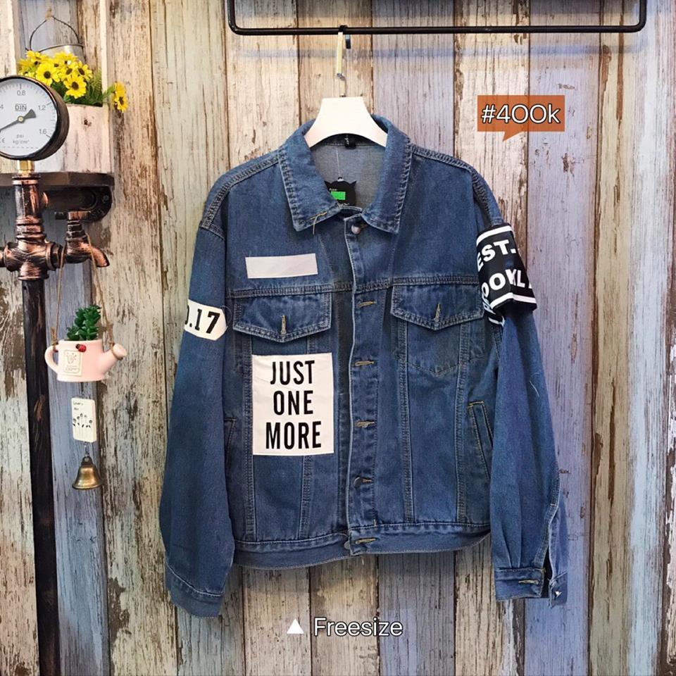 Áo khoác Jeans Just one more (ko rách)