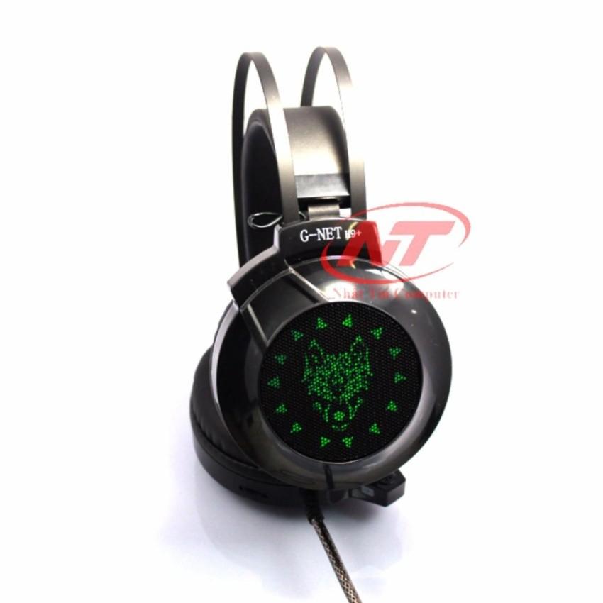 Tai nghe chuyên game GNET H9+ đèn led - Có rung (Đen)