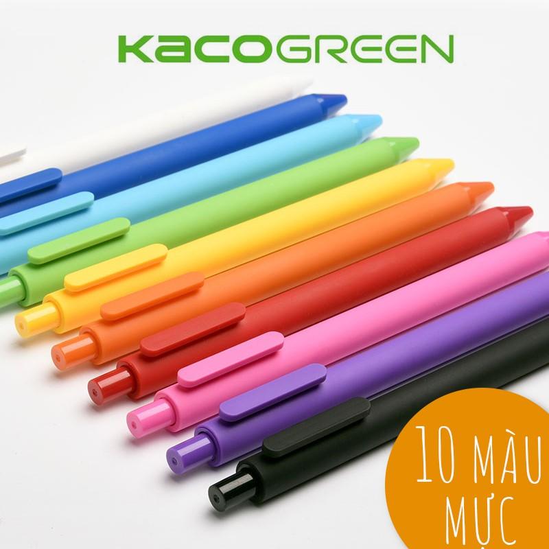 [COMBO 10 BÚT] Bút gel KACO PURE ruột nhiều màu (hàng chính hãng)