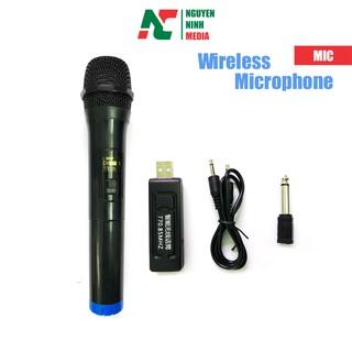 Micro Karaoke Không Dây UHF 770.85MHZ Đa Năng Dành Cho Loa Kéo, Amli, Loa xách tay Bluetooth