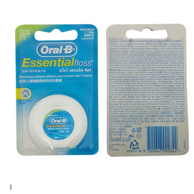 Chỉ Nha Khoa Oral-B Essential Floss Cuộn 50 Mét