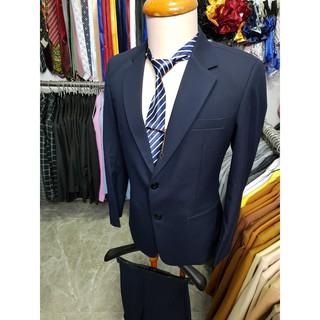 Yêu ThíchBộ Vest nam 2 nút màu xanh đen chất vải dày mịn (áo vest+quần+cà vạt+nơ)